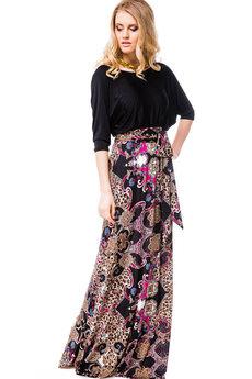 Платье в пол с рукавами три четверти Mondigo
