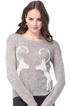 Женский свитер с оленями VIAGGIO со скидкой