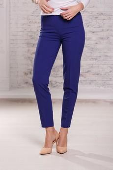 Женские брюки синего цвета Angela Ricci со скидкой