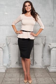 """Костюм двойка: блуза с баской и юбка """"карандаш"""" Angela Ricci"""