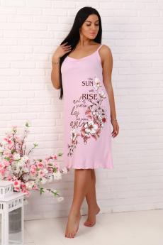 Розовая хлопковая сорочка Натали