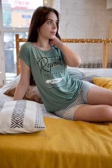 Домашний костюм с шортами и футболкой Lika Dress