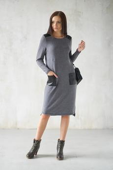 Теплое серое платье Шарлиз