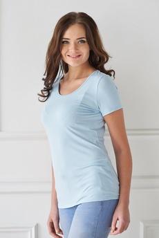 Голубая женская футболка Шарлиз