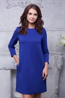 Синее платье с карманами Look Russian