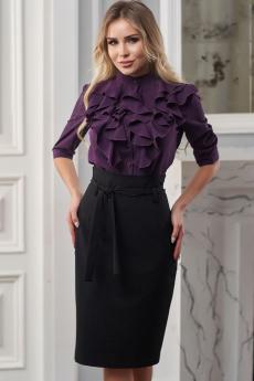 Новинка: черная юбка с высоким поясом Look Russian