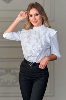 Новинка: белая блуза с рюшами Look Russian