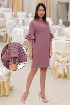 Нарядное платье цвета пыльная роза Натали
